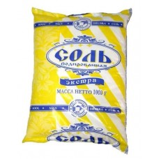 Соль экстра «Полесье» Йодированная  Полиэтиленовый пакет по 1 кг (йод)